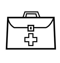 medic suitcase icon vector image vector image