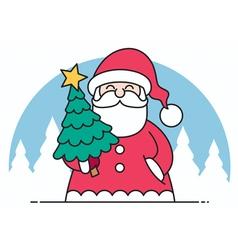 Santa Flat Design vector image vector image