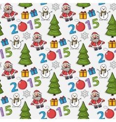 seamless Christmas patternsticker vector image