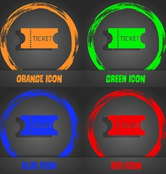ticket icon sign Fashionable modern style In the vector image