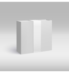 Vertical box with ribbon vector image