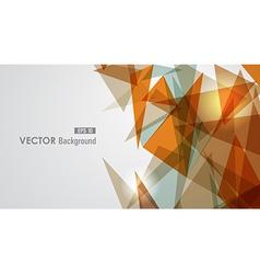 Warm tones geometric transparency vector image vector image