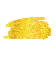 Golden glitter banner vector image vector image