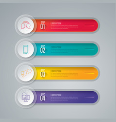 infographics design with 4 step vector image
