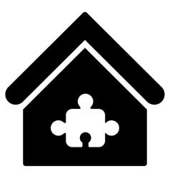 Puzzle building flat icon vector