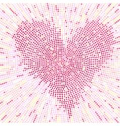 valentine mosaic background vector image vector image