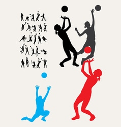Volleyball Silhouettes vector image vector image