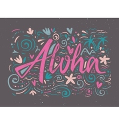 Aloha shirts to print vector image vector image