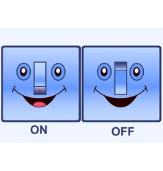 funny electric switch vector image vector image