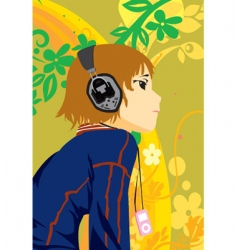 music boy vector image vector image