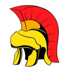 roman legionary helmet icon cartoon vector image
