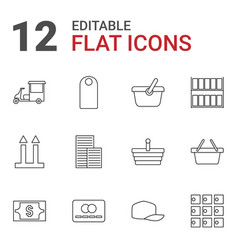 12 store icons vector