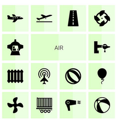 14 air icons vector image