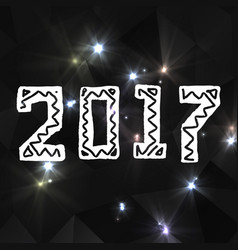 2017 grunge stamp new year sign vector image
