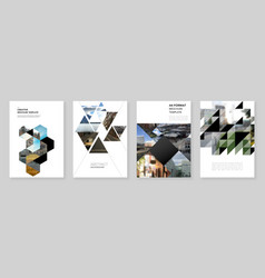 A4 brochure layout covers design template with vector