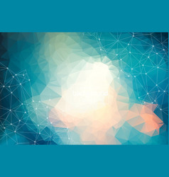 abstract blue light geometric polygonal vector image