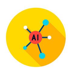 Ai graph circle icon vector