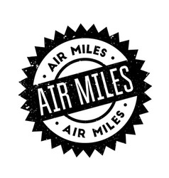 Air miles rubber stamp vector