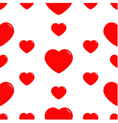 big red heart seamless pattern wrapping paper vector image