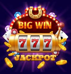 Big win 777 lottery casino concept vector