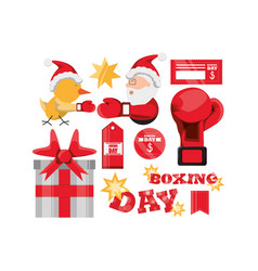 boxing day design vector image