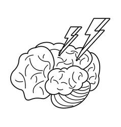 Brainstorm idea creative outline vector