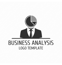 Business analysis logo template vector