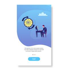 businessman working office workplace deadline time vector image