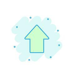 cartoon arrow up icon in comic style forward vector image