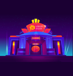casino night exterior with neon lights vector image