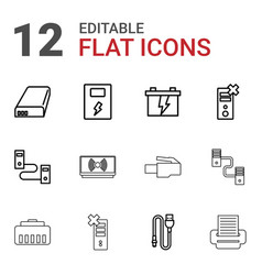 Charger icons vector