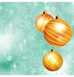 Christmas ball on abstract blue lights EPS 10 vector image