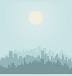 city is flat2 vector image