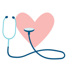 clipart of heart check up or color vector image