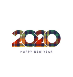 color check plaid fabric texture 2020 happy new vector image
