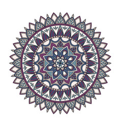 Color floral mandala vector