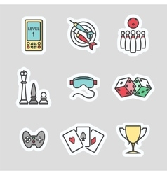 Colorful game stickers vector image