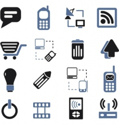 communication signs set vector image