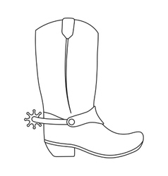 Cowboy boots icon in outline style isolated on vector image