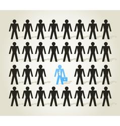Crowd people3 vector