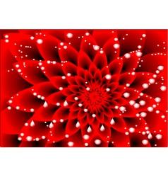 Dahlia red vector