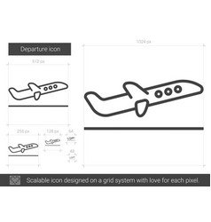 Departure line icon vector