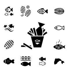 Fish icon isolated vector