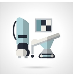 Flat style icon for MRI vector