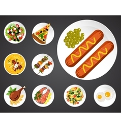 food set vector image