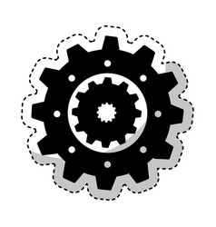 gear machine setup icon vector image