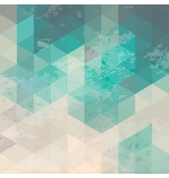 geometric background with grunge texture vector image