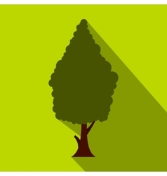 Green cypress icon flat style vector image
