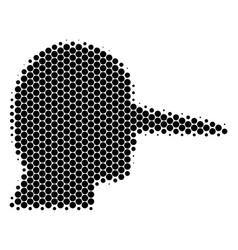 Halftone dot lier icon vector