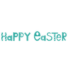 happy easter celebration festival flat banner vector image